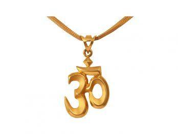 Gold Om Design Pendant