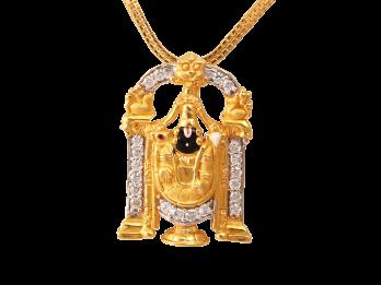 Tirupati Balaji Pendant With CZ