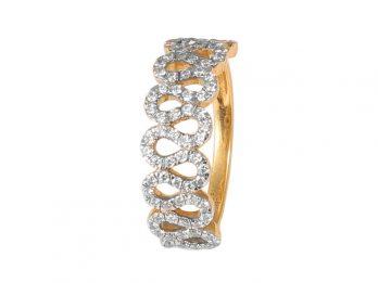 Pave Set Zigzag Design Pave Set Diamond Ring