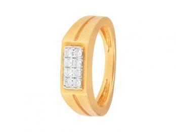 Prong Set Mat Finish Mens Diamond Ring