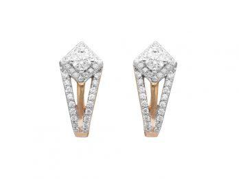Pressure Set Diamond Hoop Earrings
