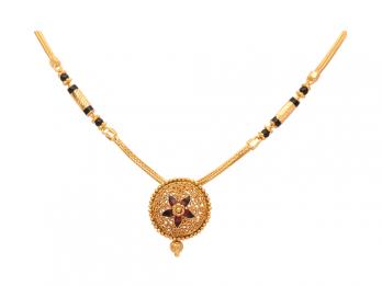 Meena Beads Gold Mangal Sutra