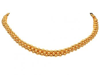 Gold Bead Design  Thushi Necklace