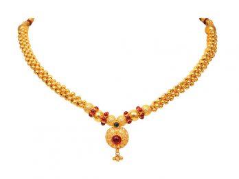 Gold Bead Filigree Design Thushi