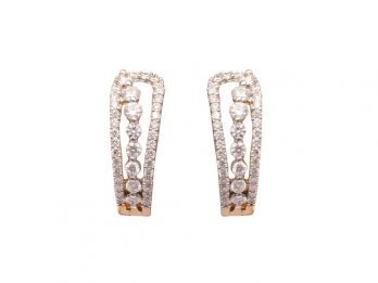 Prong Set Diamond Hoop Earrings