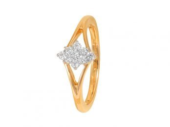 Prong Set Diamond Shape Diamond Ring