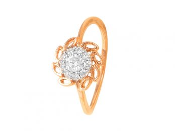 Marquice Design Pave Set Rose Gold Diamond Ring