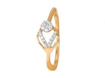 Pressure Set Diamond Ring