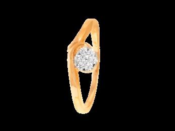 Pressure Bar Set Diamond Ring