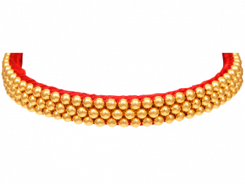 Gold Beads Design With Thread Thushi
