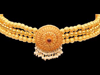 Gold Embossed Filigree Thushi