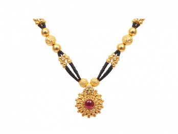 Multilayer Traditional Gold Mangal Sutra