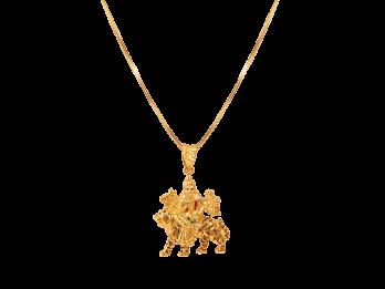 Gold Durga Mata Pendant