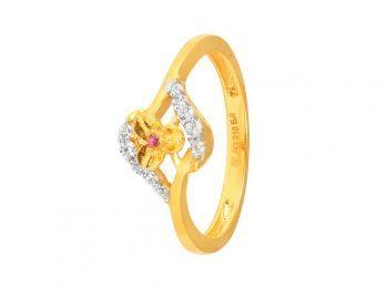 Floral Design CZ Ring