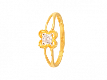 Solo Prong Set CZ Ring