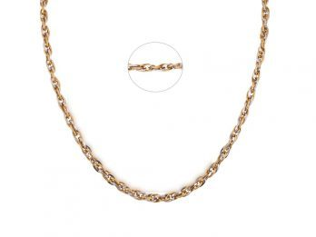 Figaro Link Chain With Rhodium