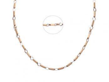 Diamond Cut Link Chain With Rhodium 18k