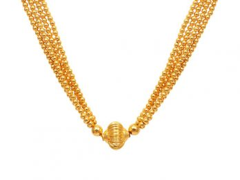 Four Layer Gold Beads Necklace